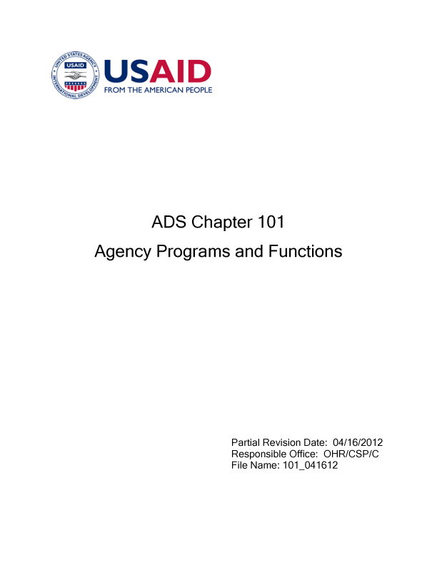 ADS Chapter 101