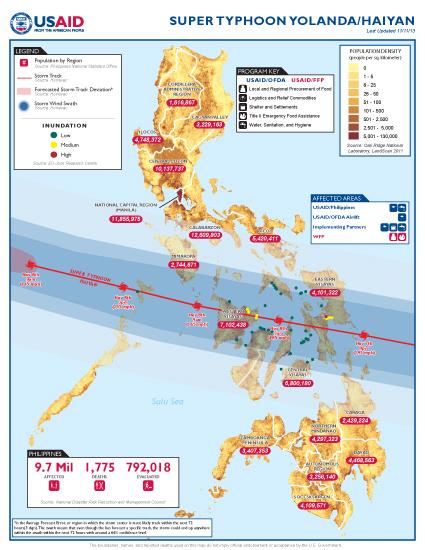 Super Typhoon Haiyan Map - 11/11/2013