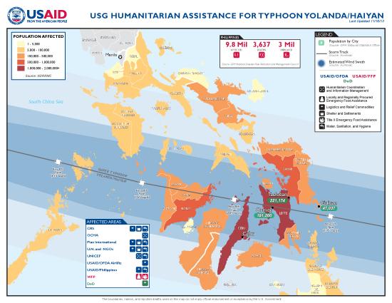Typhoon Haiyan / Yolanda Map - 11/16/2013 (Click to view full-size map)