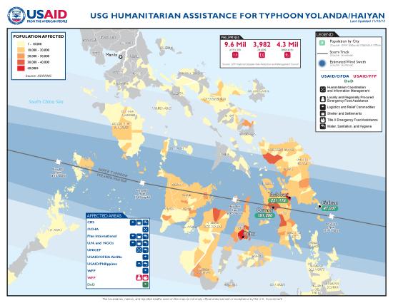 Typhoon Haiyan / Yolanda Map - 11/19/2013 (Click to view full-size map)