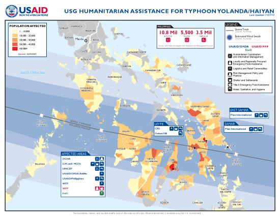 Typhoon Haiyan / Yolanda Map - 11/25/2013 (Click to view full-size map)