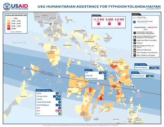 Typhoon Haiyan / Yolanda Map - 12/03/2013 (Click to view full-size map)