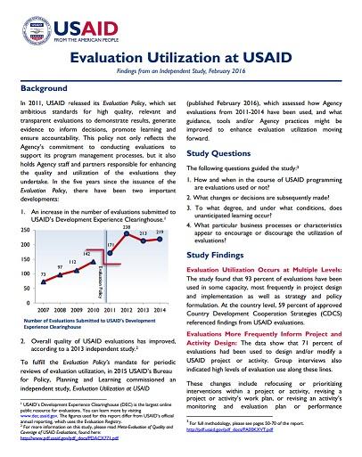 Evaluation Utilization Two-Page Brief
