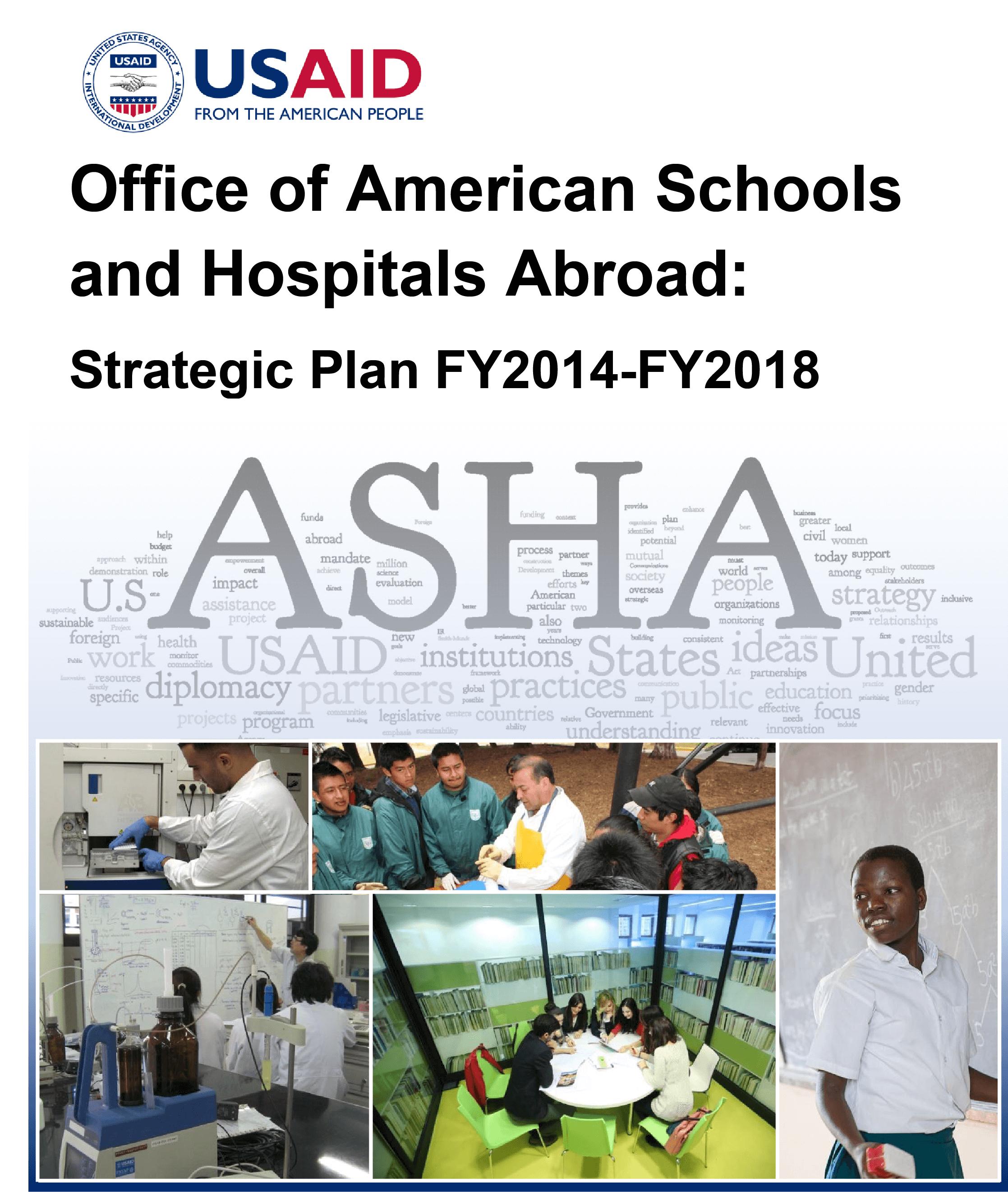 USAID/ASHA Strategic Plan for Fiscal Years 2014-2018