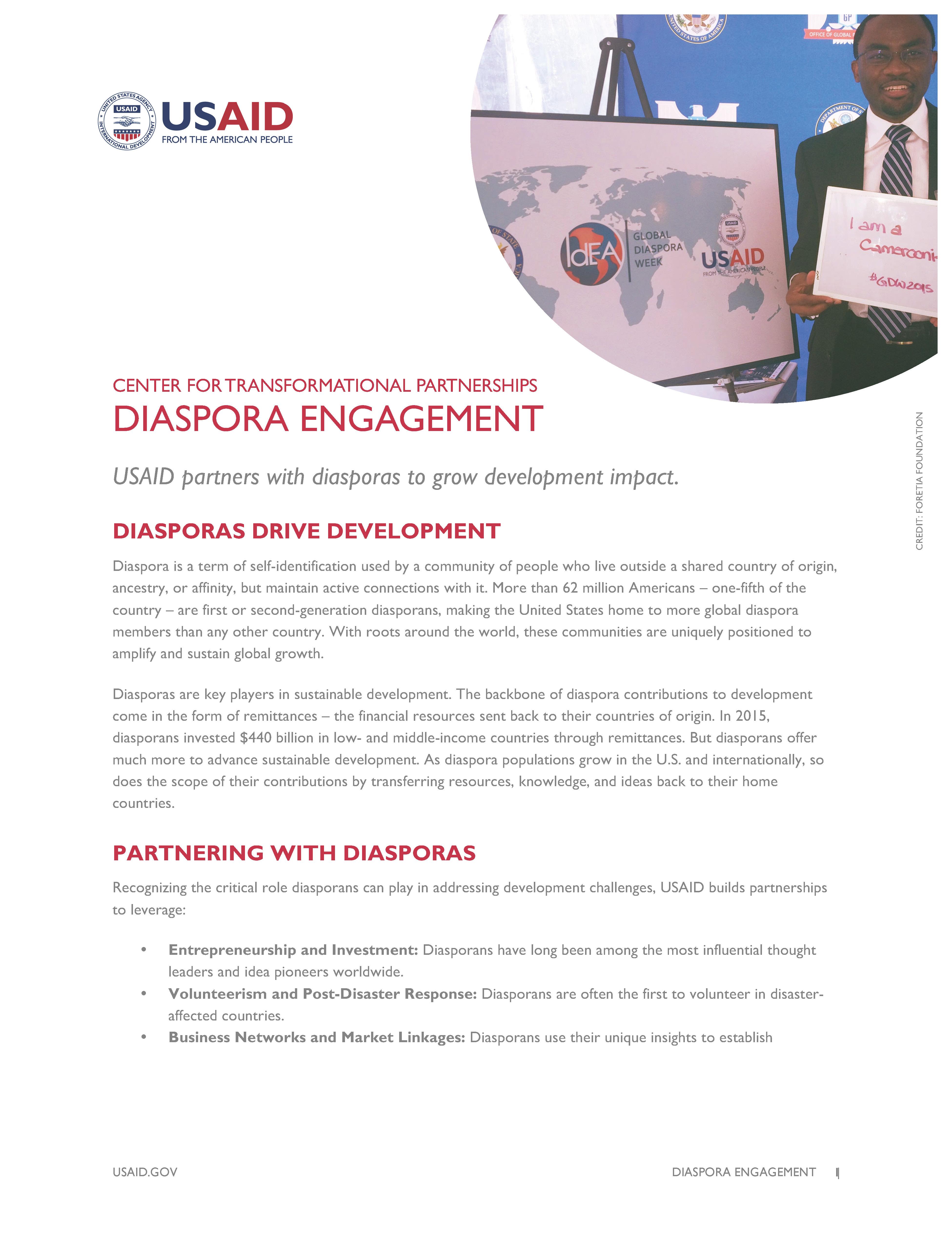 Diaspora Fact Sheet