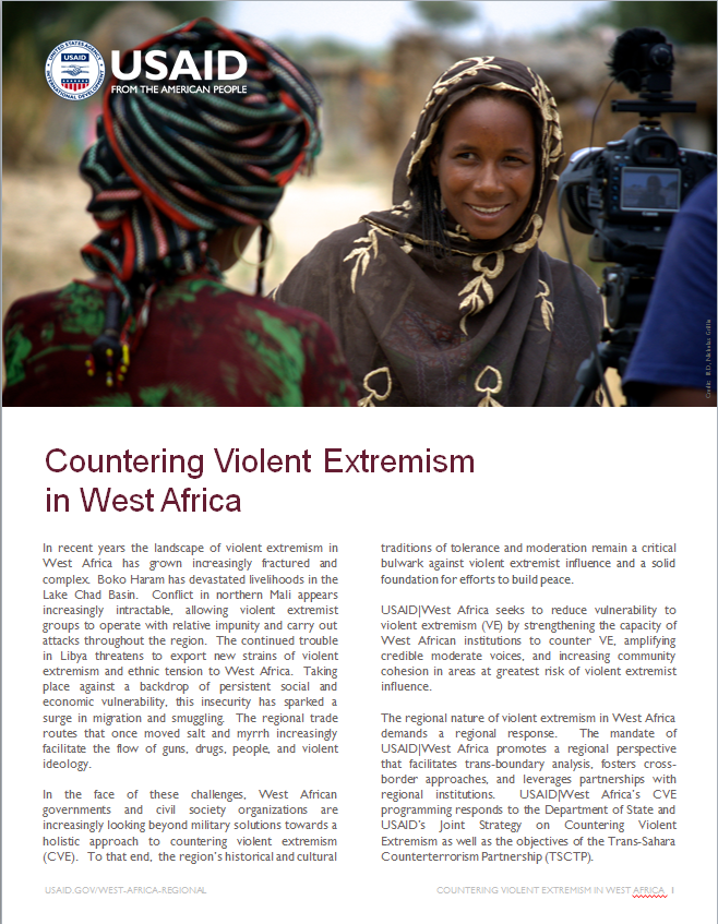 Click here to download the Fact Sheet on Countering Violent Extremism in West Africa