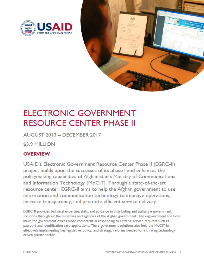 Electronic Government Resource Center Phase II (EGRC II)
