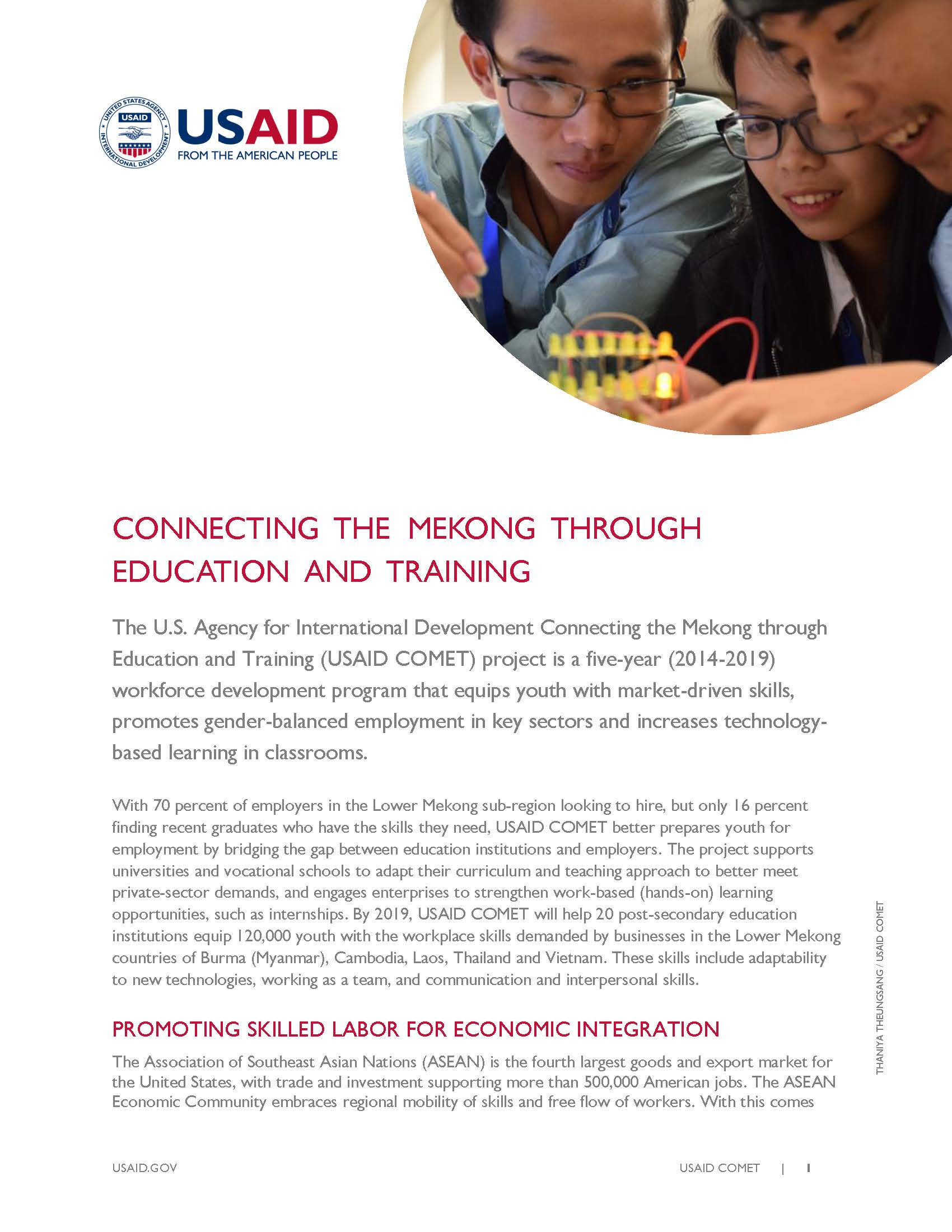 Connecting the Mekong through Education and Training