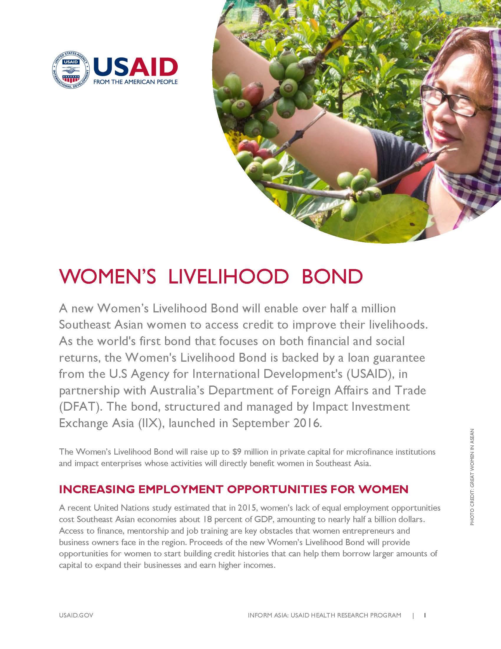 Women's Livelihood Bond_May 2017