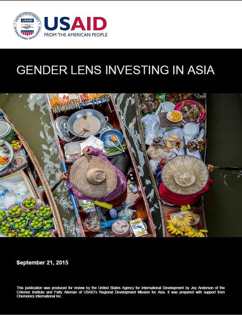 Advancing Gender Lens Investing in Asia (2015)
