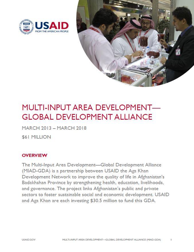 Multi-Input Area Development - Global Development Alliance (MIAD GDA)