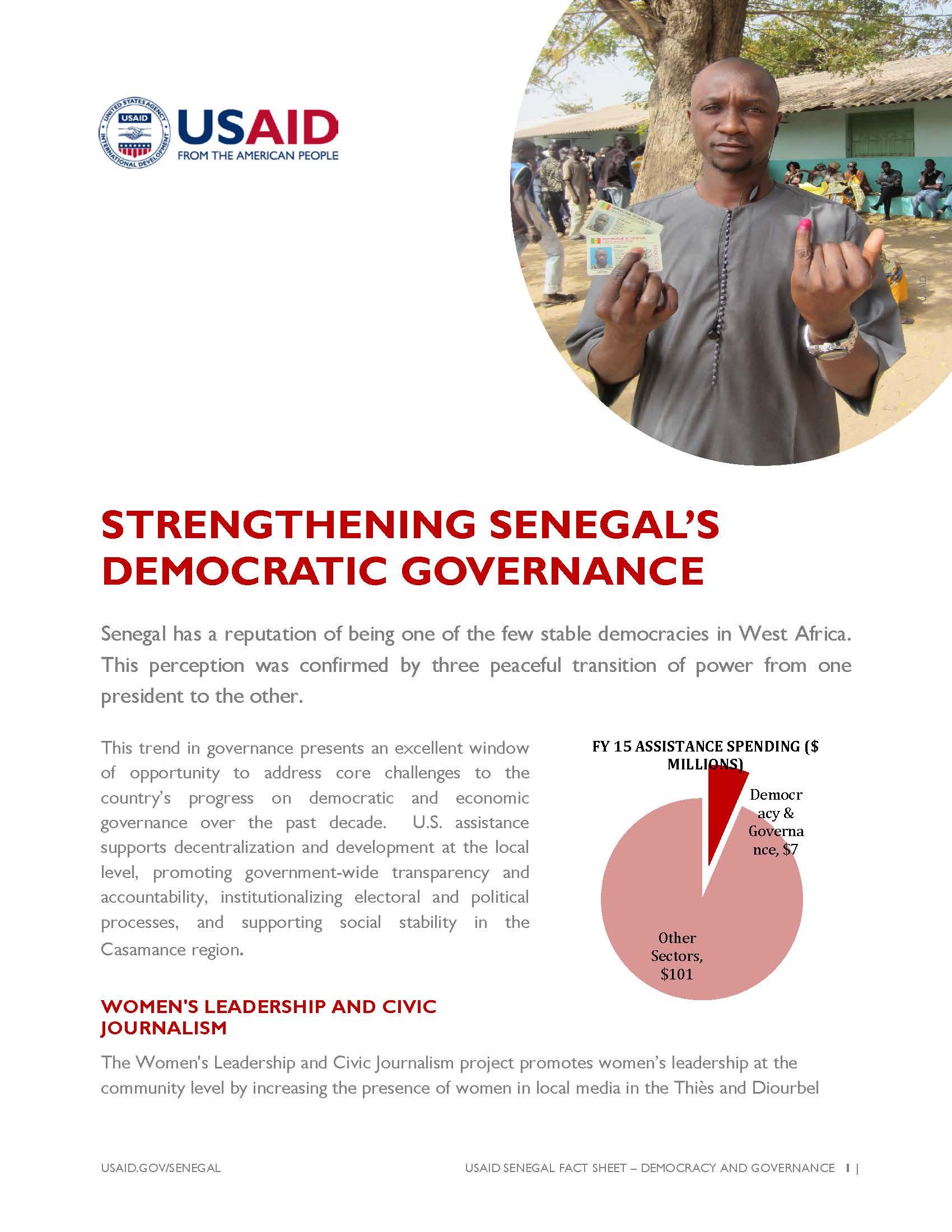 Strengthening Democratic Governance in Senegal