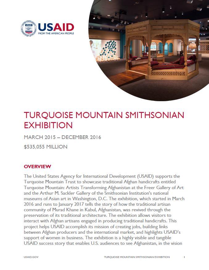 Turquoise Mountain Smithsonian Exhibition