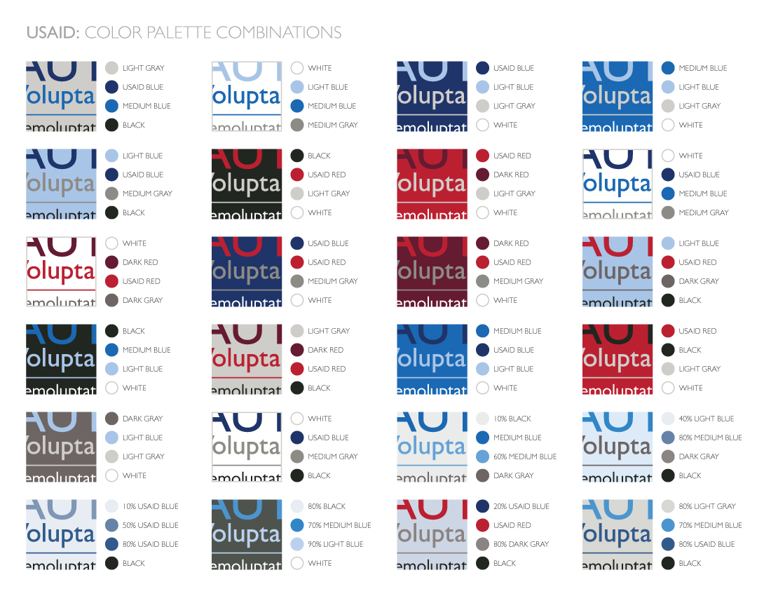 Suggested Color Combinations - USAID Branding