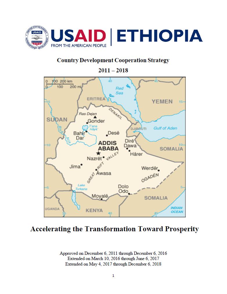 Ethiopia Country Development Cooperation Strategy 2011 – 2018