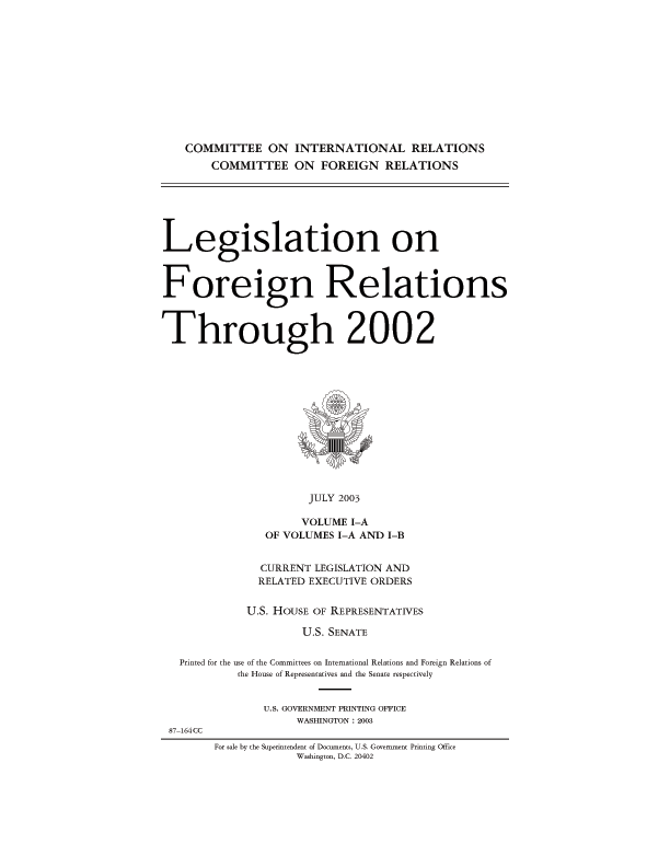 The Foreign Assistance Act of 1961, as amended