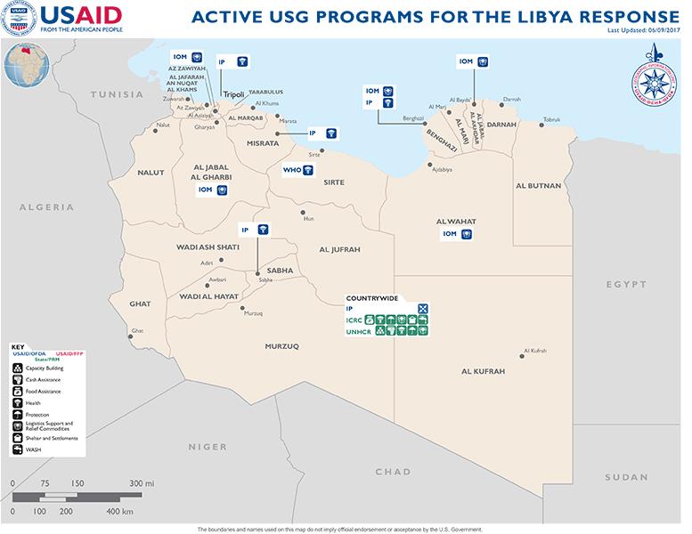 Libya Map - 06-09-2017