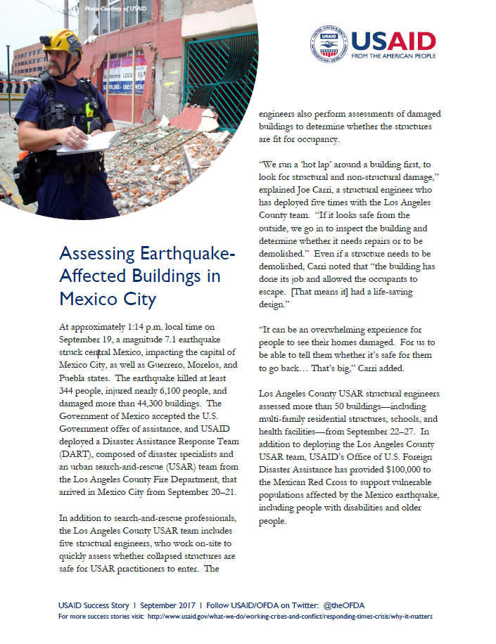 Assessing Earthquake-Affected Buildings in Mexico City