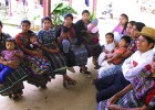 Mayan women and a husband receive family planning counseling at the health center in Chimaltenango, southern Guatemala.