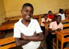 Johnie Pierre, 13, is one of thousands of Haitian children to receive shoes through the Haiti Neglected Tropical Disease Control