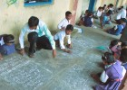 """Indian children at one of Pratham Education's """"learning camps."""""""