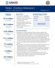 Yemen Complex Emergency Fact Sheet #16 - 09-22-2017