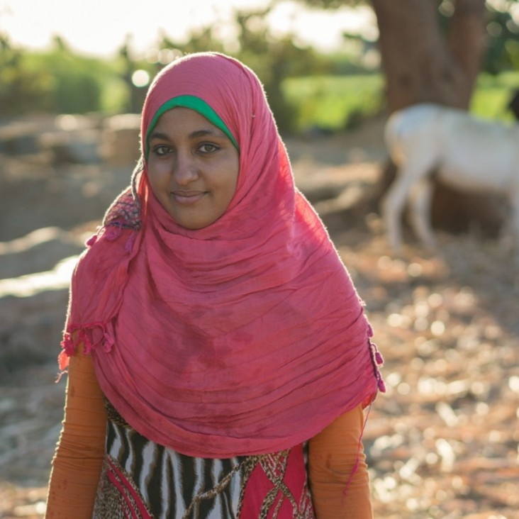 Agriculture Technical School student Doaa, from Upper Egypt, used award money from her USAID-sponsored business plan competition