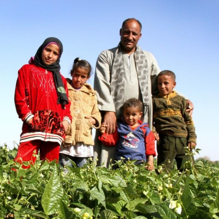 farm family from Aswan
