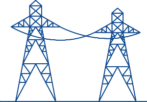 icon of electrical towers