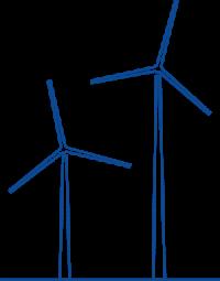 icon of wind turbines