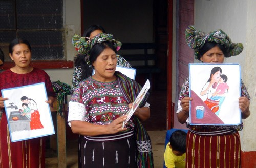 Mayan women in Guatemala learn about nutrition, hygiene, and health as part of a USAID-supported program.