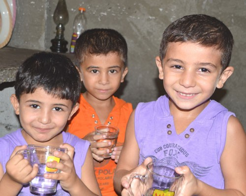 Beneficiaries of the USAID water project in Khan Younis, Gaza.
