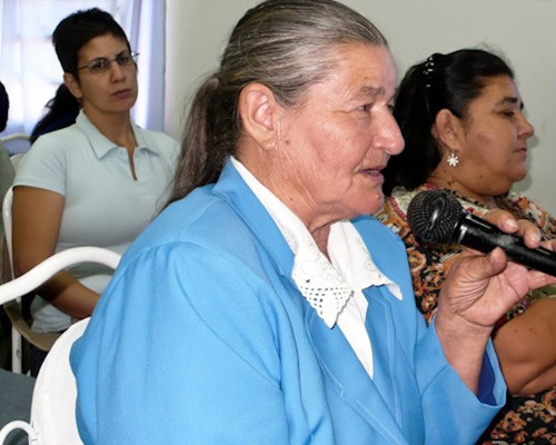 Women of all ages actively participate in USAID's capacity building and civil society networking sessions.