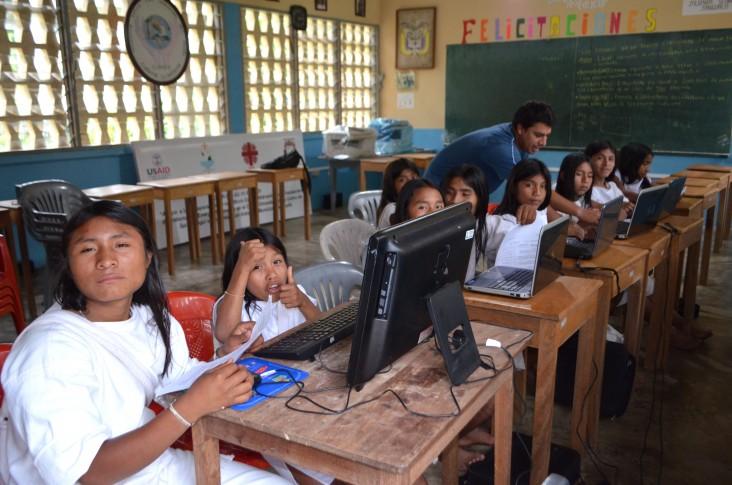 Computer room in San Antonia school