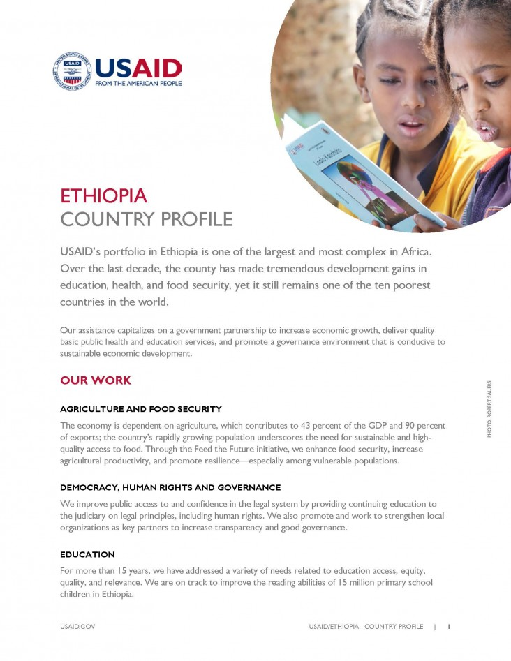 Ethiopia Country Profile. Click to read PDF
