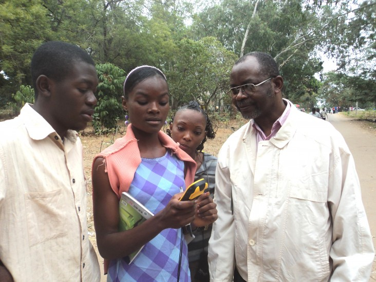 OSFAC provided training on field data collection using GPS at the University of Kinshasa.