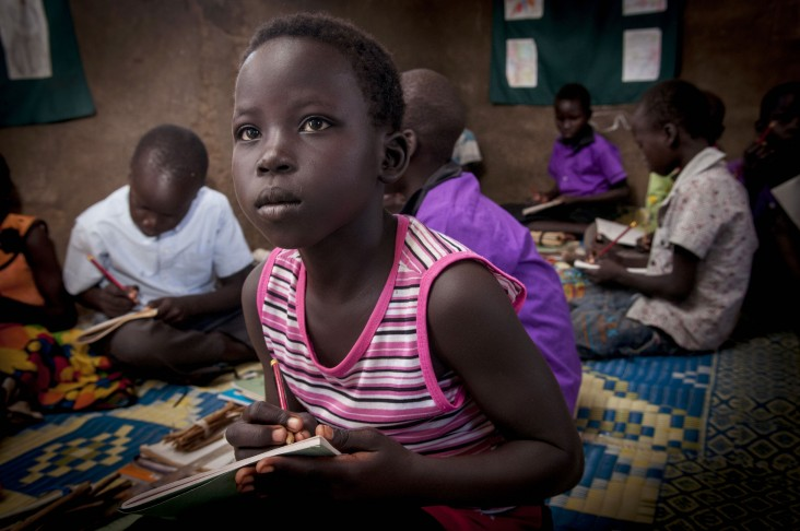 Children at a USAID-supported primary school in Juba, South Sudan