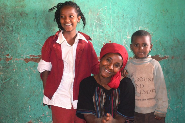 Zenebech Zerihun has started to earn a living and has brought her oldest child back home.