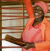 Woman with a loom