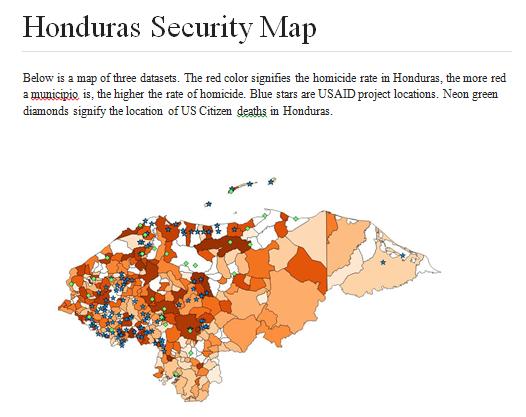 Honduras Security Map