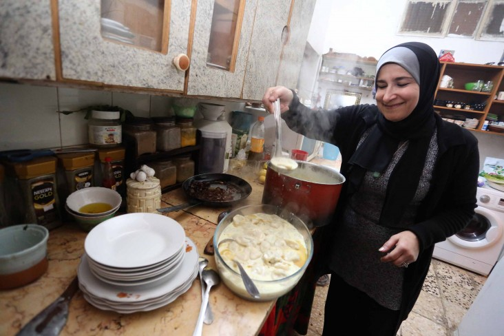 Entrepreneur Manar Harb received equipment to expand her home-based catering business in the north of Jordan.