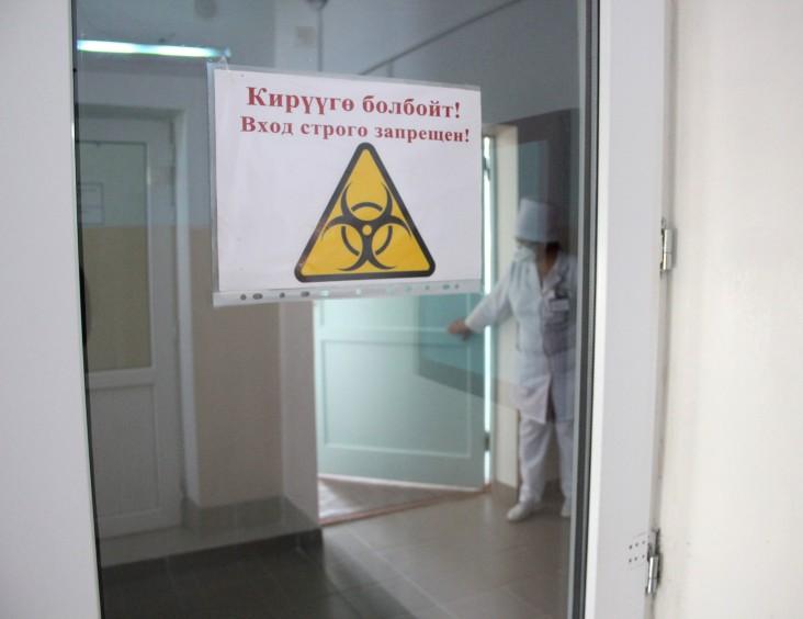 A doctor checks patients at Kara-Balta TB Hospital.