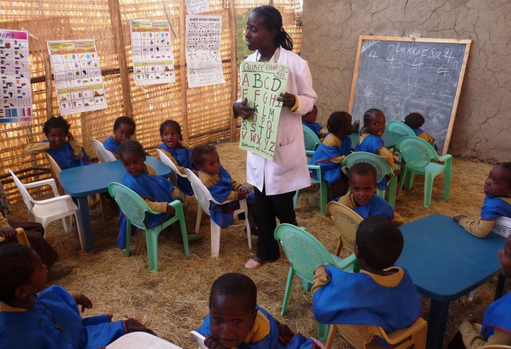 One of two early childhood development centers established through resource mobilization by community leaders in Ziway.