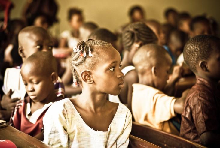 Malian girl in her classroom.