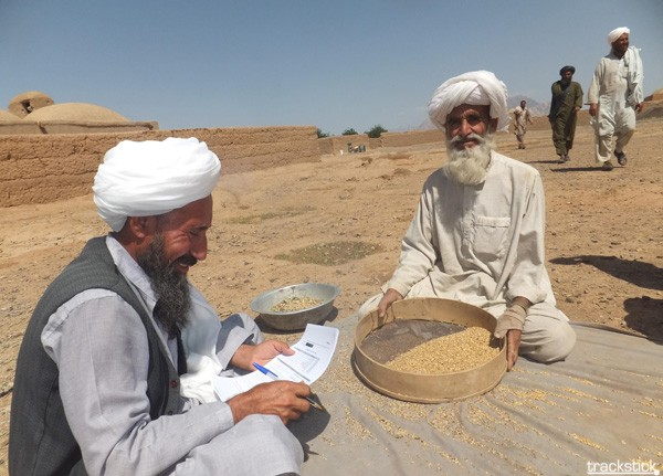 Photos that are time- and date-stamped and geotagged are uploaded to USAID's databases.