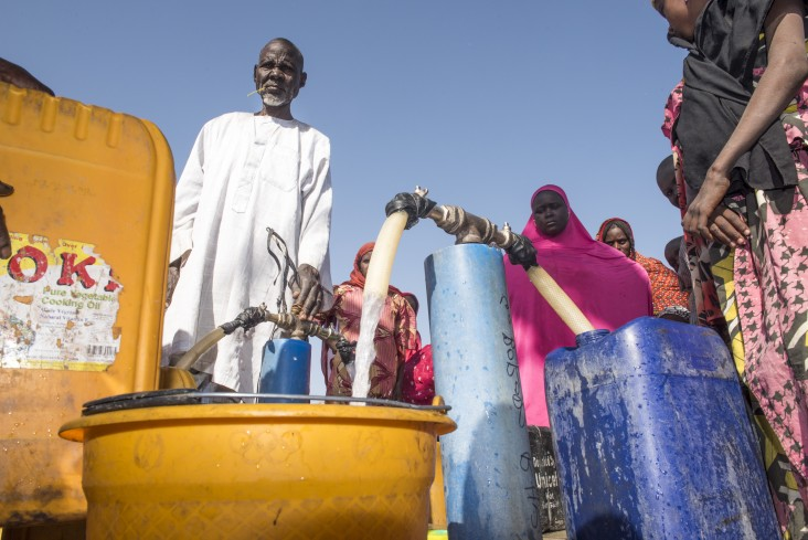 In northeast Nigeria, where there are more than 8.5 million people in need of humanitarian aid, USAID is providing safe drinking water, as well as food assistance to help those in need.