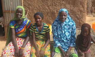 Oumou Mounkaila, second from right, with three of her children
