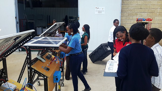 Hands-on excercise.  ASU-led VOCTEC program, all-women training Strathmore University, Nairobi April 2015.