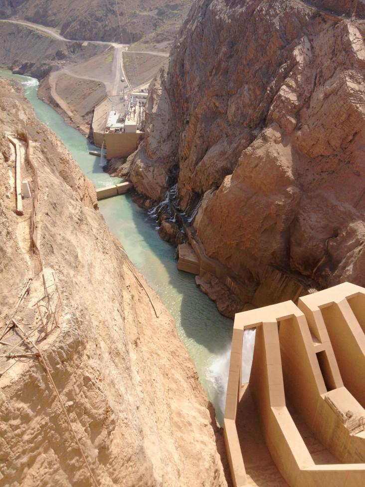 Gomal Zam Dam spillway