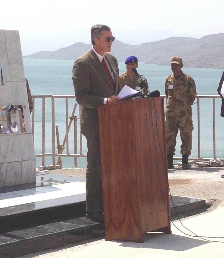 Ambassador Richard G. Olson at Gomal Zam inauguration